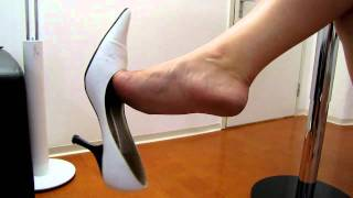 White High Heels dangling
