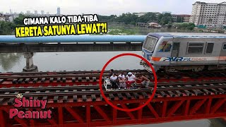 Mereka Beroperasi Di Jalur Aktif Kereta