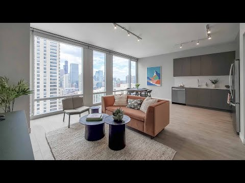 A River North 1-bedroom WA1 at 23 West Apartments at One Chicago