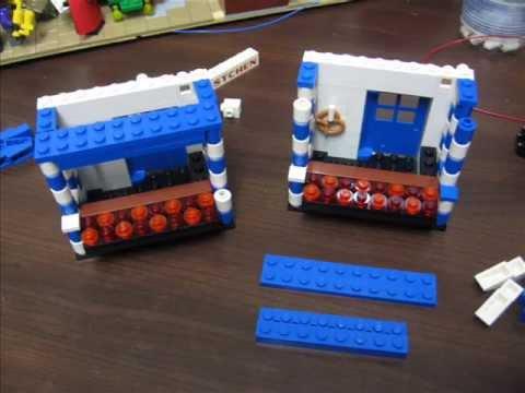 Würstchenstand aus LEGO mit LED Beleuchtung