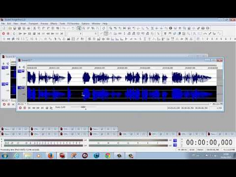 Dobra de voz - Sound Forge (Locutor Kiko)