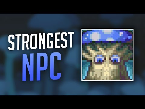 Strongest NPC vs All Bosses - Terraria 1.3