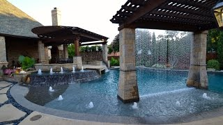 Colleyville Cascading Water Paradise Pool Tour