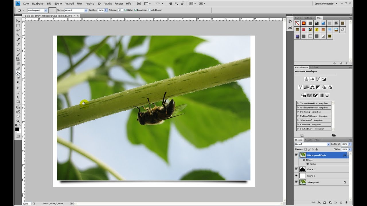 Schatten für angehobene Postkarte (3D-Effekt) – Photoshop-Tutorial