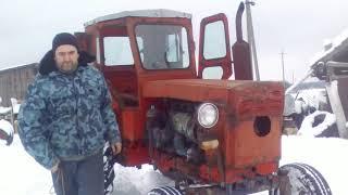 запуск трактора т 40 пускачем пд 8\launch tractor t 40 start-up nd 8
