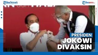 Momen Presiden Jokowi Divaksinasi Covid-19