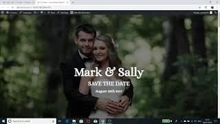 Create a wedding invitation website - 2019   WordPress, Astra, Elementor