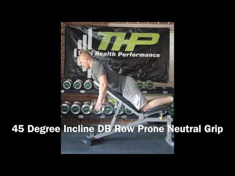 45 Degree Incline DB Row Prone Neutral Grip