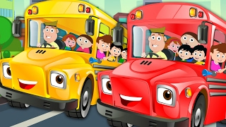 Wheels On The Bus Go Round And Round Nursery Rhymes Kids Songs Baby Rhymes kids tv S03 EP17