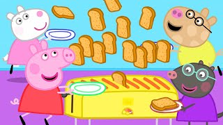 Peppa Pig Official Channel   Peppa Pig's Breakfast Club and a Strange Toaster