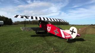 Fokker D-VII - Start Up and Taxi Run - Kermit Weeks