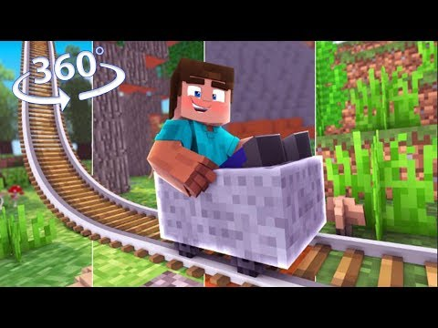 Travel The MULTIVERSE! – Minecraft 360 Video Roller Coaster