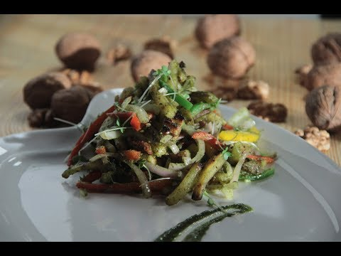 Sweet Potato and Pesto Stir Fry | Cooking with California Walnuts | Sanjeev Kapoor Khazana