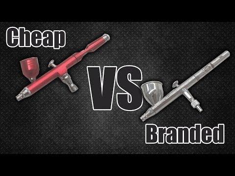 Cheap airbrush vs a branded iwata airbrush