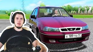 БАТЯ ДАЛ МАШИНУ ПОКАТАТЬСЯ - ПЕРВЫЙ РАЗ ЗА РУЛЕМ - City Car Driving + РУЛЬ