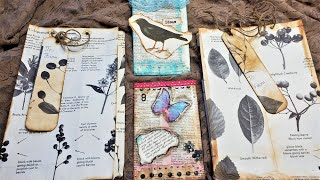 Junk Journal ~ Using Up Book Pages  Ep 27 ~ Easy Paper Bags (The Baglet And The Grocery Bag!)!!