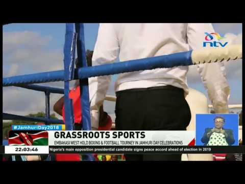 Embakasi West holds boxing and football tourney in Jamhuri day celebrations