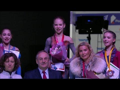 Награждение девушек - Первенство России среди юниоров 2019 (Первый канал)