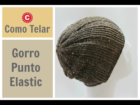 Gorro Punto Elástico  Tejido con Telar para Hombre o Mujer - Rib Stitch Hat in Spanish