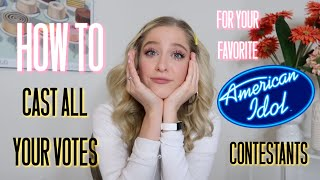 How to Cast ALL OF YOUR VOTES for Your Favorite AMERICAN IDOL Contestants 2020 | MARGIE MAYS 🙆🏼♀️