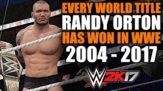 WWE 2K17: Every World Title Randy Orton Has Won in WWE (2004 - 2017)