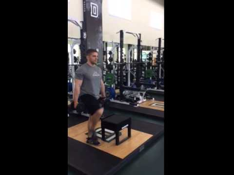 Dumbbell Crossover Step Up