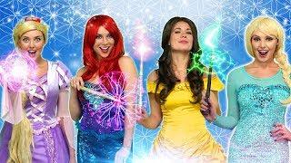DISNEY PRINCESS MAGIC POWERS. {With Rapunzel, Ariel, Belle, Anna and Elsa)