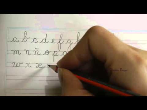 Caligrafía: El alfabeto español en letra minúscula