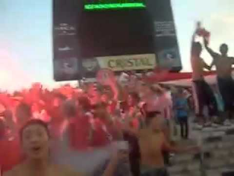 """Recibimiento Union La Calera vs Colo Colo"" Barra: La Banda Cementera • Club: Unión La Calera"