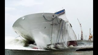 Big Ships Launch! Awesome Ship Launches Compilation