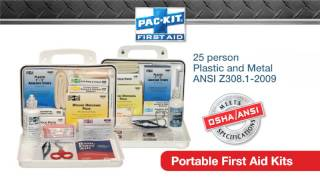 Pac kit and physicianscare first aid fulfilling all your needs