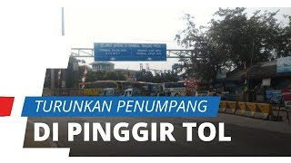 Kota Tegal Terapkan Isolasi Terbatas, Sopir Bus Turunkan Penumpang di Pinggir Jalan Tol