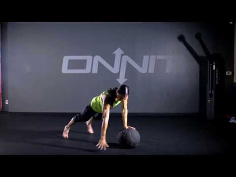Medicine Ball One-Armed Plyo Pushup