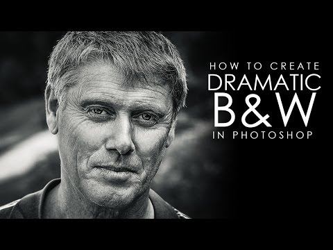 dramatic black and white portrait photoshop tutorial by psdesire