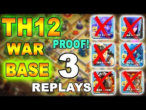 New Amazing Th12 War Base 2018 With 3 Replays Anti Bowler Anti 2