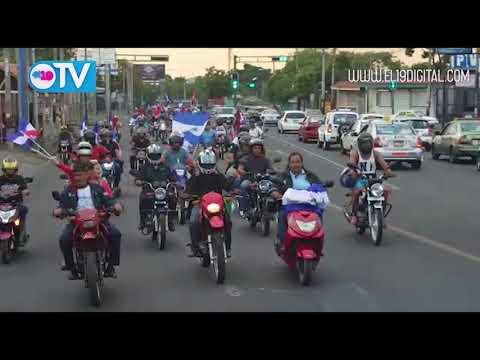 Caravana motorizada del Amor, la Paz y el Diálogo recorre Managua