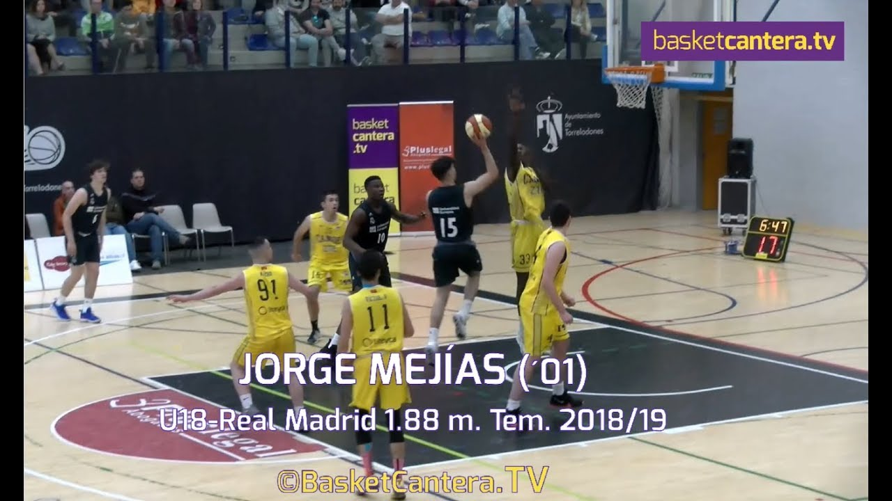 JORGE MEJÍAS (´01) Junior Real Madrid 1,88 m. Temp. 2018/19 (BasketCantera.TV)