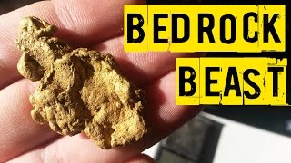 HUGE Gold Nugget Found in Solid Bedrock - Metal Detecting For Gold