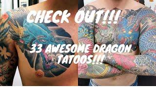 33 Japanese Style Dragon Tattoos 2020