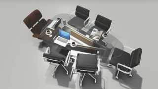 preview picture of video 'PRODHAN's Design Studio - 01726341003 (conference table)'
