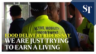 We are just trying to earn a living, say food delivery riders | The Straits Times