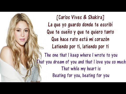 Carlos, Shakira - La Bicicleta - Lyrics English and Spanish - The bicycle - Translation & Meaning