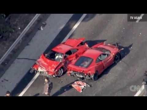 Supercar Crash in Japan with 8 Ferraris & Lamborghini
