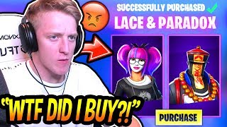Tfue HATES His *NEW* PARADOX & LACE SKINS! (FORCED TO BUY!) Fortnite FUNNY & SAVAGE Moments