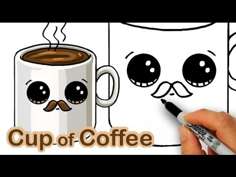 Cute Cartoon Coffee Cup With Doodle Steam Stock Vector ...