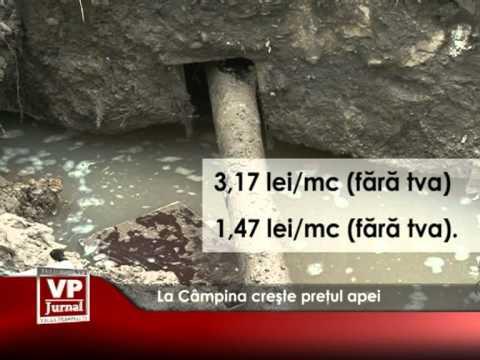 La Câmpina crește preţul apei