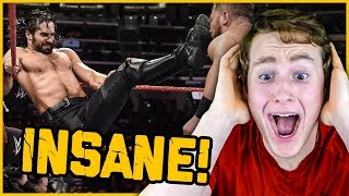 MMA FAN REACTS TO SETH ROLLINS FOR THE FIRST TIME (stupidly athletic...)