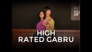 High Rated Gabru (Nawabzaade)  | Dance Fitness Choreography by Vijaya Tupurani | Guru Randhawa