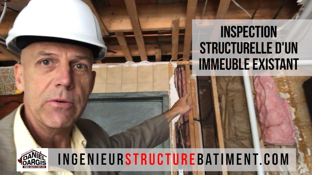 Inspection structurelle d'un immeuble existant - Daniel Dargis ingénieur en structure de bâtiments