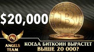 Когда биткоин вырастет выше 20 000?